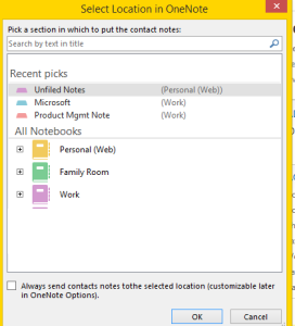 Onenote link